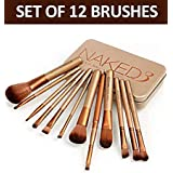 Ishi Stores Makeup Brush Set With Storage Box - Set Of 12