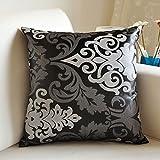 Xcjj Washable Cushion, Classical European Cloth Pillow Decorative Sofa Pillow Cushions Waist Pillow, with Pillow Core Removable Washable ,Containing Core,45*45cm,1