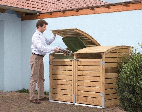 Müllbox - Variante: Duo, Dimension: 153 x 99 x 120/105 cm