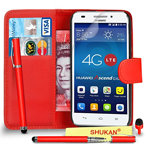 huawei-ascend-g620s-premium-leather-red-wallet-flip-case-cover-pouch-with-2-in-1-ball-pen-touch-styl