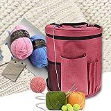 Pueri Garn Aufbewahrungstasche Tragbare Stricken Tasche für Garn Handarbeitstasche zum Stricken/Häkeln (A)