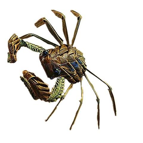 Crab Hand Woven Animal Modell handgemachte Geschenke Basteln reinen, natürlichen Leaf, so (Crab)
