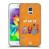Head Case Designs Böse Typographie Monster Ruckseite Hülle für Samsung Galaxy S5 Mini