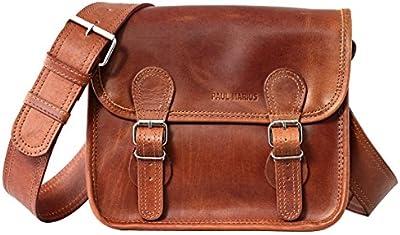 LA SACOCHE (S) color natural Bolso bandolera de piel (tamaño pequeño, estilo vintage), color marrón claro, estilo vintage PAUL MARIUS Vintage & Retro