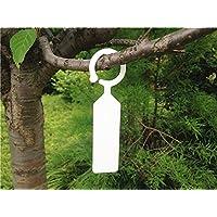 G2PLUS 100Stk. Plastik Pflanzenstecker Stecketiketten Beschriften Pflanzschilder Schilder 2.4 cm * 11CM Sind Praktisch für Alle Gärtner (Weiß)