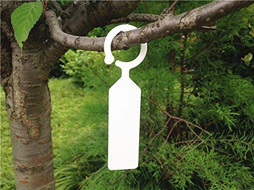 G2PLUS-Confezione da 100 etichette per piante, a forma di albero di Natale, in plastica, da giardino, per cameretta dei bambini, 4 etichette per giardiniere