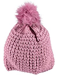 maximo Mädchen Mütze mit Pompon, Grobstrick, Vollfutter