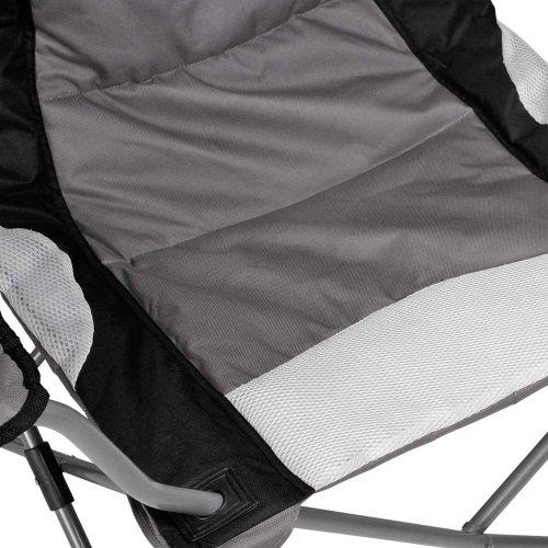 Miadomodo Gepolsterter Campingstuhl mit Tragetasche im Set in Grau-Schwarz, max Belastung 100 kg (105 x 93 x 65 cm) - Setwahl - 4