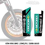 MOTOREX Gabelprotektoren Dekor - Fork Sticker Decals    SMC 690R 2008-2013