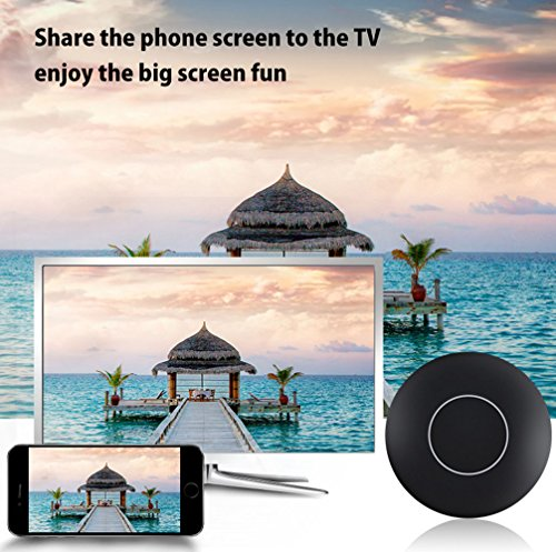 Aappy TV Inalámbrico HDMI Monitor Dongle, WiFi 1080P Mini Receptor de Pantalla con Salida AV y Luz de Marquesina HDMI TV Mira-cast DLNA Airplay para IOS / Android / Windows / Mac