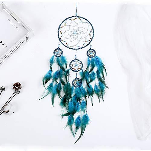 Catchers Wandkunst Dream Haus Dekorationen, indischen böhmischen Stil handgefertigt häkeln Träume Catcher Dekor für Wand Teen Mädchen Schlafzimmer Wohnzimmer,Blue (Mädchen Niedliche Teen)