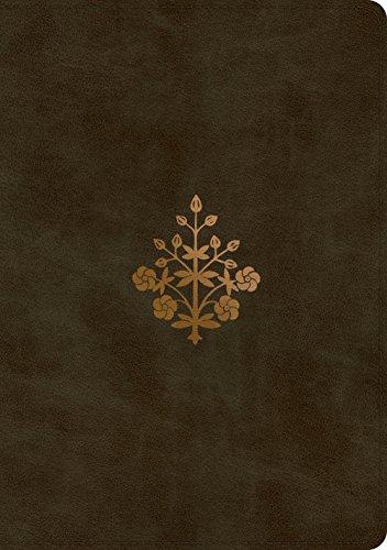 ESV Single Column Journaling Bible, Large Print (Trutone, Olive, Branch Design)