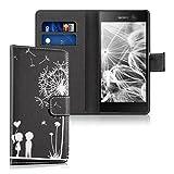 kwmobile Sony Xperia M5 Hülle - Kunstleder Wallet Case für Sony Xperia M5 mit Kartenfächern und Stand