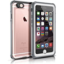 Funda Impermeable para iphone 6/6s(4.7 inch),Easylife IP68 Transparente Carcasa Anti-agua A Prueba de Golpe Cerrado Cabalmente Perfectamente Portátil(Gris y blanco)