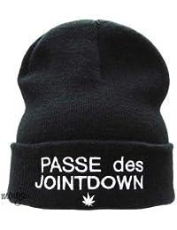 Passe des Jointdown Beanie Beanies Mütze Hat Joint down Aufschrift
