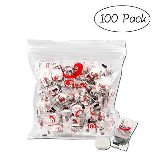 INTVN 100 Stk/Set Gesichtsmaske aus Papier,Gesichtsmaske aus Papier,Compress Papier Maske komprimierte Gesichtsmaske für DIY
