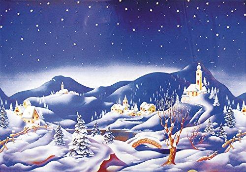 Hintergrund Schnee Krippe Metallic 70x 100cm (Schnee Hintergrund)