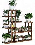 Pflanzenregale Hölzerner Blumen-Rack-Anlagen-Stand Flowerpot-Regal für den Balkon Innen Blumenständer