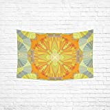 """JOCHUAN Sunshine Sunny Sun Abstract Yellow Bright Tapestry Abstract Painting Tapestry Wall Hanging Art For Living Room Bedroom Dorm Home Decor 60""""x40"""""""