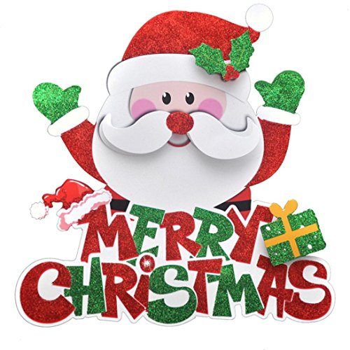 e Weihnachten Santa Schneemann Bild String hängenden Charme Party Dekoration Weihnachtsbaum Ornament (C) ()