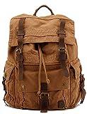Leaper Vintage Leinwand lässig Daypack Rucksack militärische Rucksack Drawstring-Reisetasche