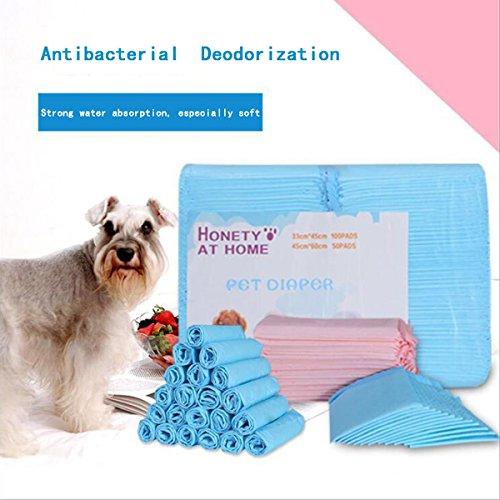 shanzhizui Pañal desodorante absorbente para perros Pañales Almohadilla Artículos de limpieza para mascotas inodoro, L