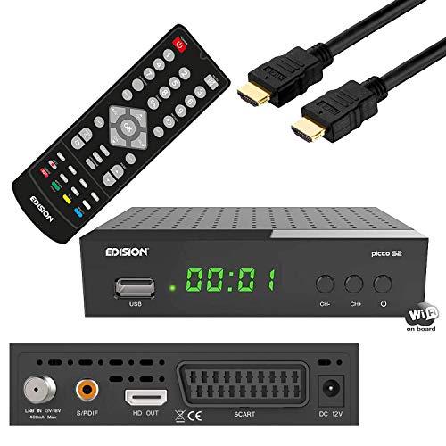 Edision S2 USB,CA,IPTV, Scart,WLAN Receiver Tivu Sat geeignet,Sender vorinstalliert Astra+ Hotbird