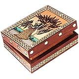 Jewellery Box/Trinket Box/Storage Box Out Of Gemstones And Shisham Wood Ragini Design By Handicrafts Paradise
