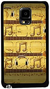 PrintVisa Music Notes Case Cover for Samsung Galaxy Note Edge