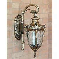 GOUD Lampada da parete Outdoor Wall Light, 1 Luce, Pittura Classic Vetro di alluminio , (Outdoor Metallo Wall Art)
