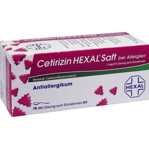 Cetirizin HEXALSaft bei Allergien, 1 mg/ml Lösung zum Einnehmen