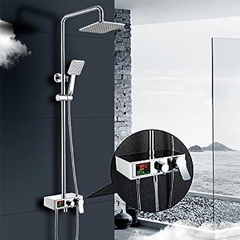 homelody colonne de douche embarqu pommeau de douche a set de douche encastrable ecran lcd. Black Bedroom Furniture Sets. Home Design Ideas