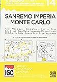 Carte n. 14 San Remo, Imperia, Monte Carlo 1:50.000. Carta dei sentieri e dei rifugi