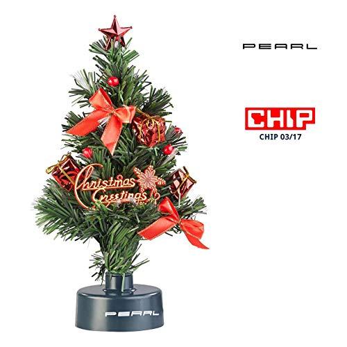 PEARL 12V Weihnachtsbaum: USB-Weihnachtsbaum mit LED-Farbwechsel-Glasfaserlichtern (Mini Weihnachtsbaum)