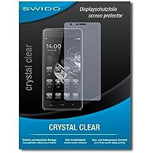 """2 x SWIDO® Protector de pantalla Homtom HT5 Protectores de pantalla de película """"CrystalClear"""" invisible"""