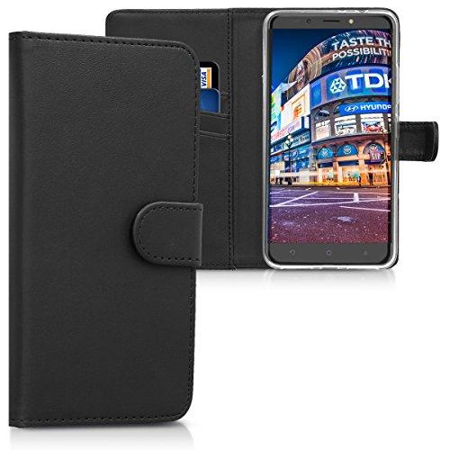 kwmobile Alcatel A7 XL Hülle - Kunstleder Wallet Case für Alcatel A7 XL mit Kartenfächern und Stand