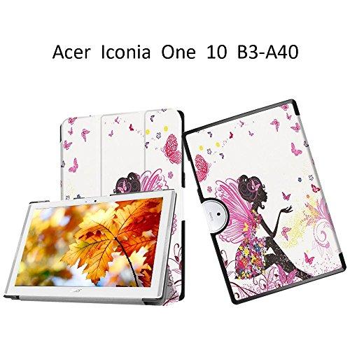 Acer Iconia One 10B3-A40faltbare Schutzhülle aus Leder mit leuchtenden Mustern Elf girl
