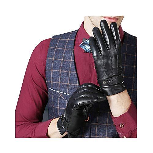 9e083c8a77ebd4 KelaSip Herren Winter Leder Handschuhe Touch-Screen Business-Leder  Handschuhe Kaschmir-Innenfutter Weihnachten Geburtstag Geschenk  Outdoor-Fahrt-Handschuhe