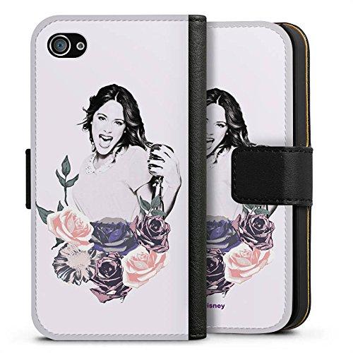 Apple iPhone X Silikon Hülle Case Schutzhülle Disney Violetta Geschenk Merchandise Sideflip Tasche schwarz