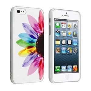 Aokdis New Hot Selling Fashional Individualized Hard Back Case for Iphone 5 5g 5s (Sunflower)