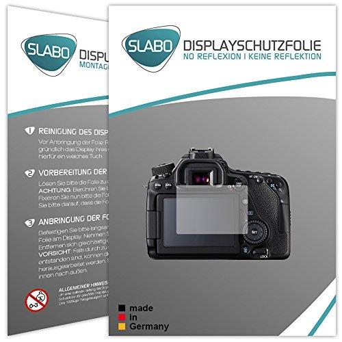 Galleria fotografica 2 x Slabo pellicola protettiva per display Canon EOS 80D protezione display No Reflexion|Anti-Riflesso OPACA - senza riflesso MADE IN GERMANY