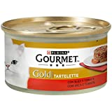 Purina - Gourmet Gold Tartalette Buey y Tomate - Pack de 24 x 85 g - Total 2040 g
