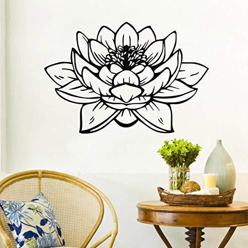jiushizq Buddha Lotus Wandaufkleber Bad Wasserdicht Vinyl Wandtattoos Wohnkultur Wandbilder Glas Dekoration 59 cm X 86 cm