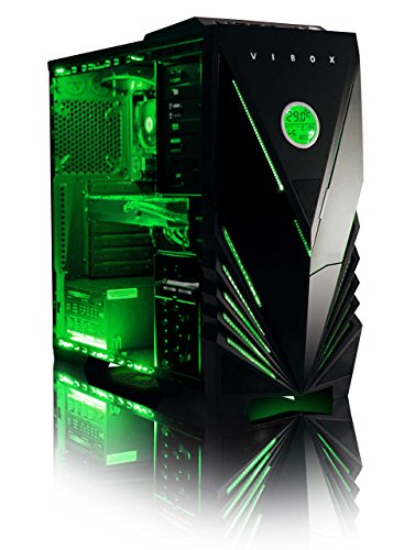 Buy VIBOX Demon 2 Desktop Gaming PC – with WarThunder Game Bundle (4.2GHz Intel i7 6700K Quad Core Processor, Nvidia Geforce GTX 950 Graphics Card, 1TB Hard Drive, 16GB RAM, Green Gamer Case, No Operating System) Special