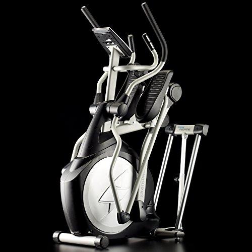 Skandika Crosstrainer CardioCross Carbon Pro SF-3200, 23,5 kg Schwungmasse, wartungsarmes Bremssytem über Magnettechnologie, Transportrollen, Kalorienverbrauch, Zeit und und Pulsmessung - 3