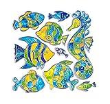 Outlook Design Italia Outlook Design Stickers Pesci Argentati, Multicolore, 30 x 38 cm