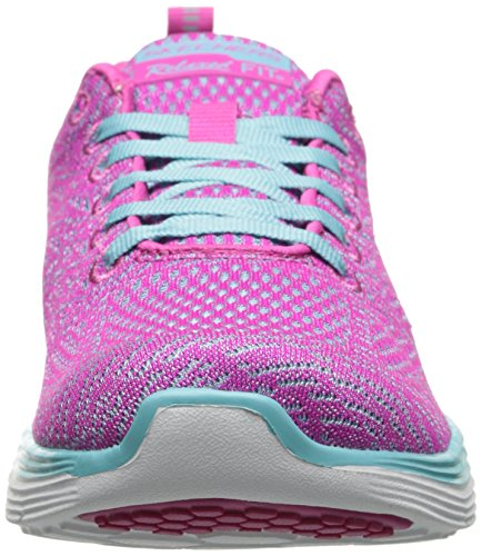 Skechers Valeris, Chaussures de Fitness femme Pink Mesh/Light Blue Trim