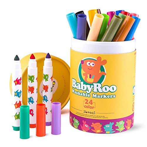 lzstifte Set - 24er Etui; Einfach Auswaschbar; Ungiftig; Sicher Für Babys, Kleinkinder und Kinder (Einfache Thanksgiving-handwerk Für Kleinkinder)