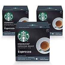 Starbucks Dolce Gusto Dark Espresso Roast Pack Of 3-36 Capsules