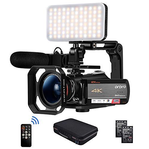 Camcorder 4K Videokamera, ORDRO AC5 UHD Camcorder